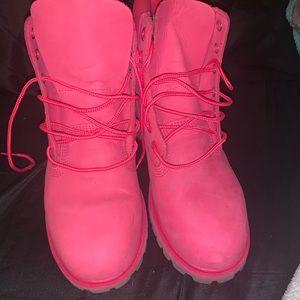 Pink timbs sz 7 NEVER WORN